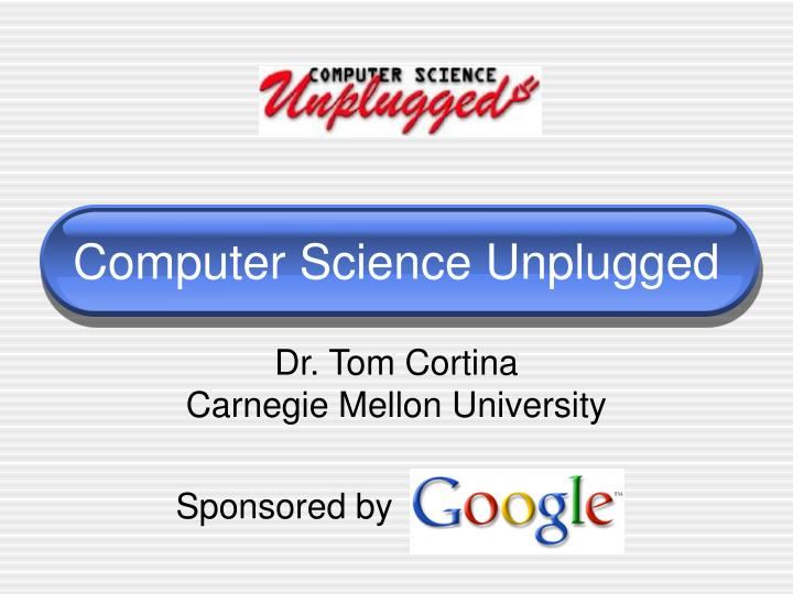 computer science unplugged n.