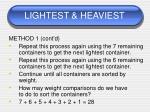lightest heaviest68