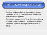 the cooperation game54