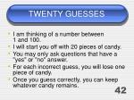 twenty guesses32