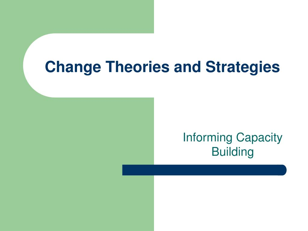 Change Theories and Strategies