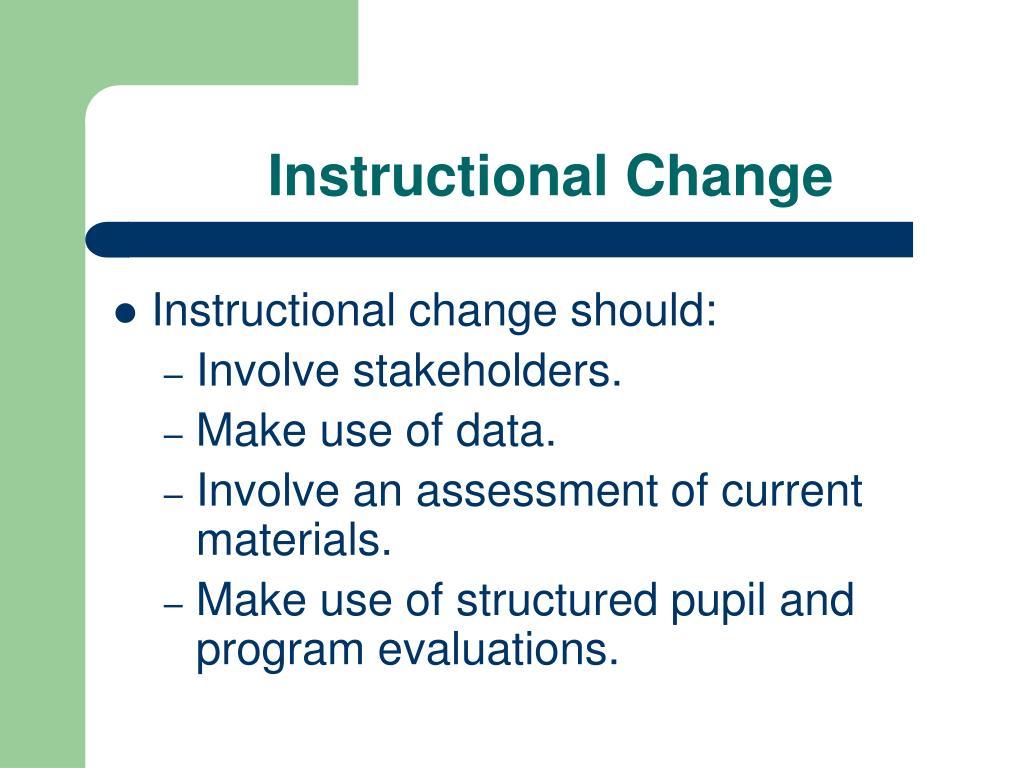 Instructional Change