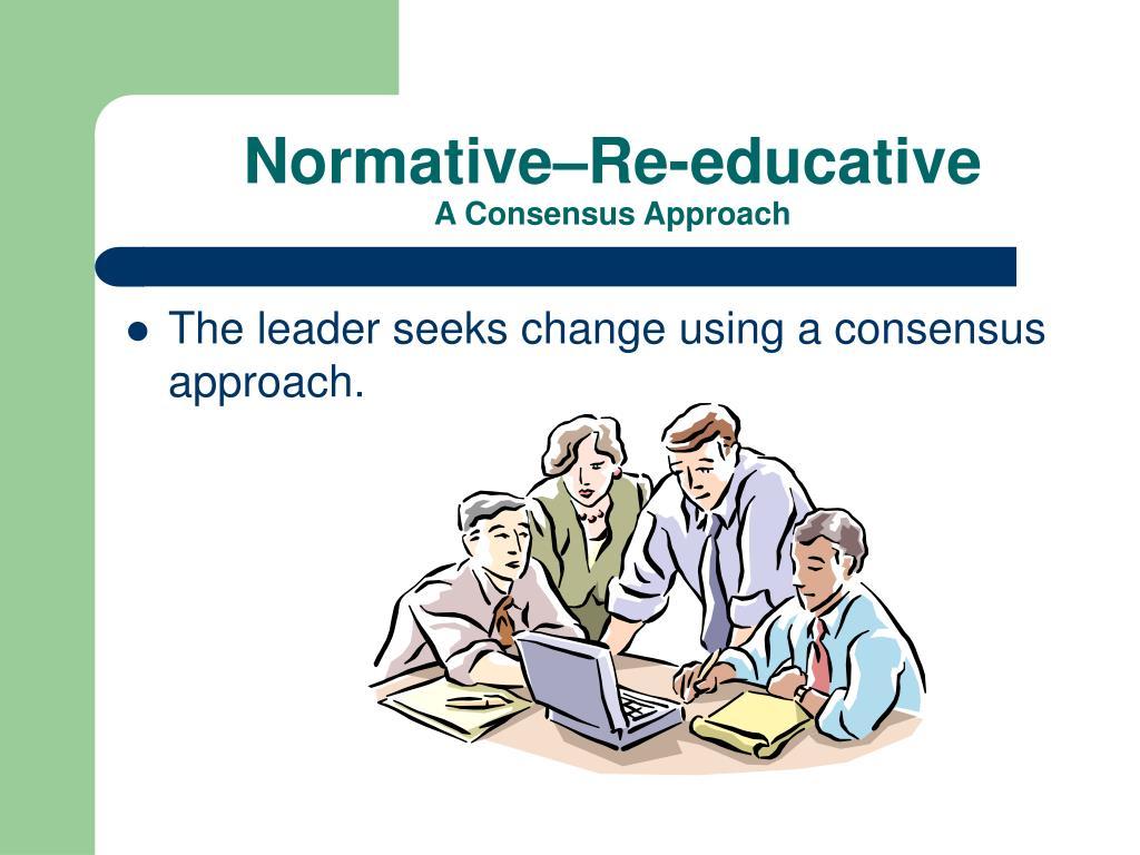 Normative–Re-educative