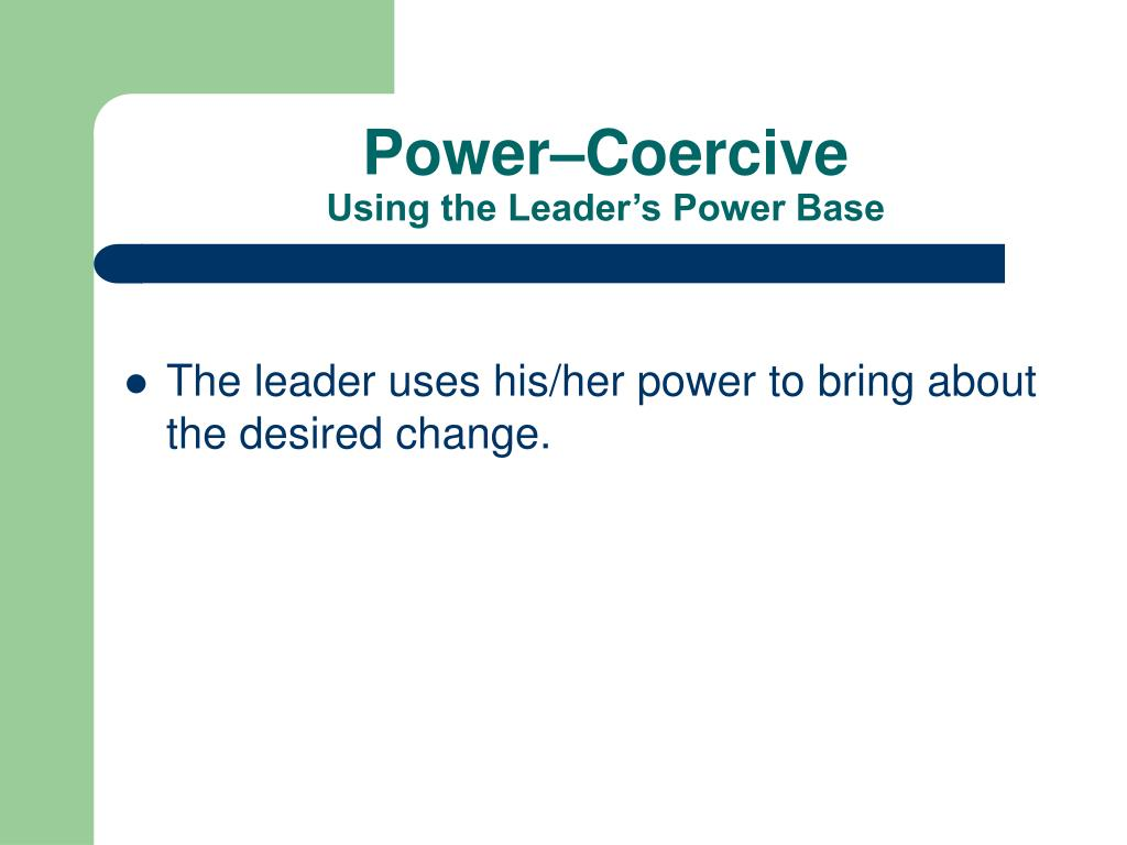 Power–Coercive