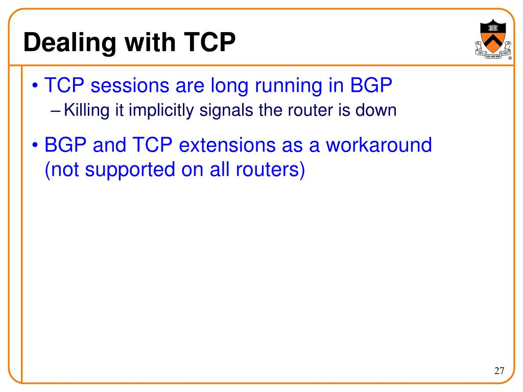 Dealing with TCP