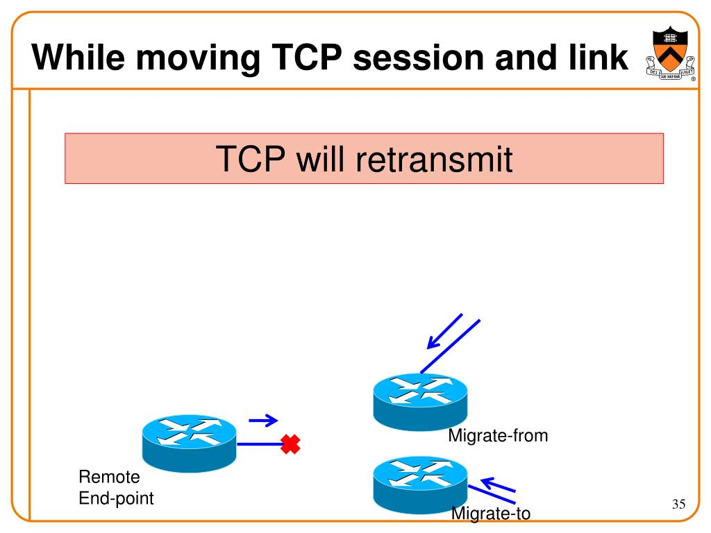 While moving TCP session and link