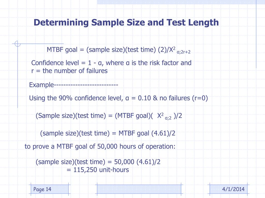 Determining Sample Size and Test Length