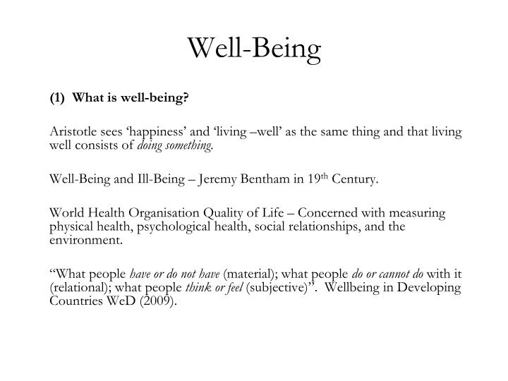 Well being3