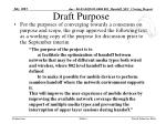 draft purpose