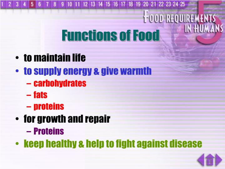 Functions of food