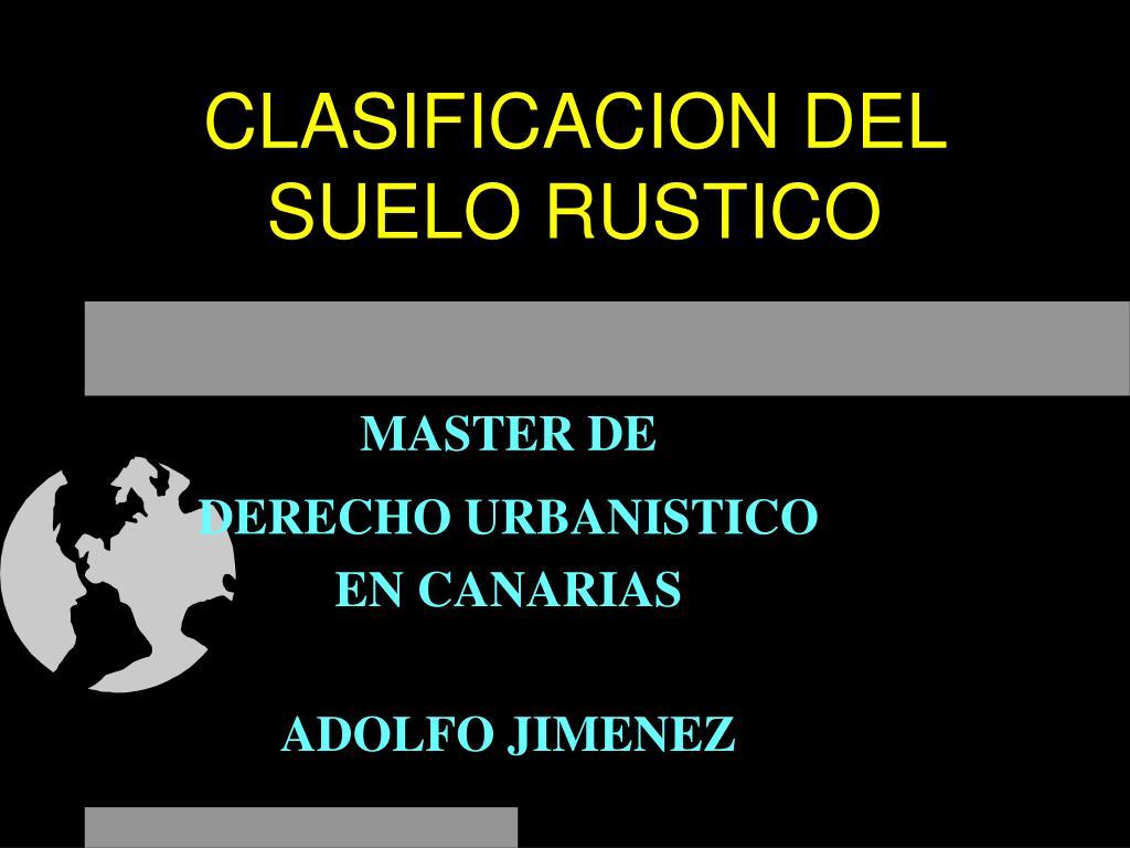 clasificacion del suelo rustico