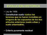evolucion hist rica