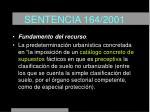 sentencia 164 2001