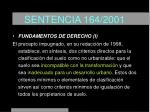 sentencia 164 200119