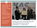 at the ceremony of presenting the red ribbon money award december 1 st 2006 kiev