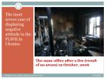 the same office after a fire result of an arson 19 october 2006