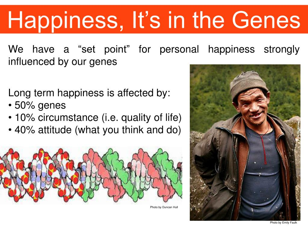 Happiness, It's in the Genes