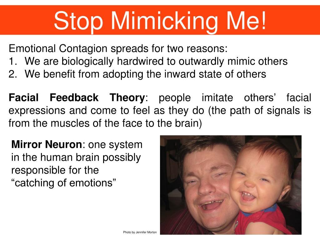 Stop Mimicking Me!