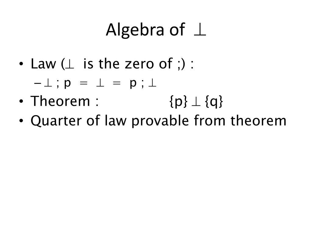 Algebra of
