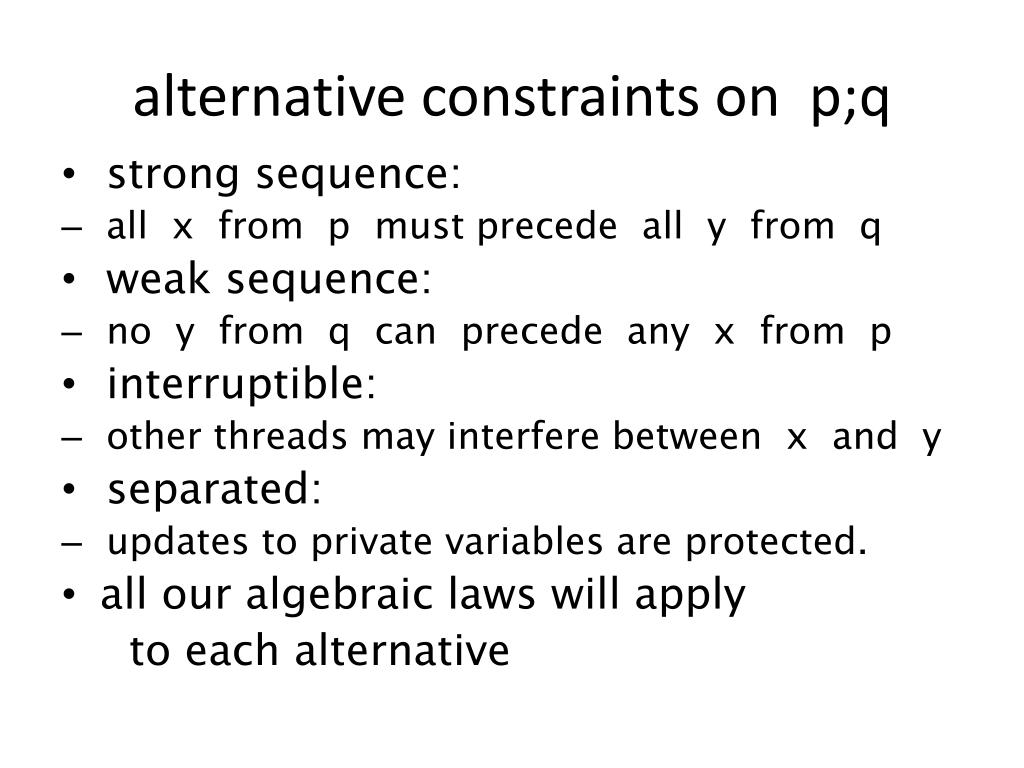 alternative constraints