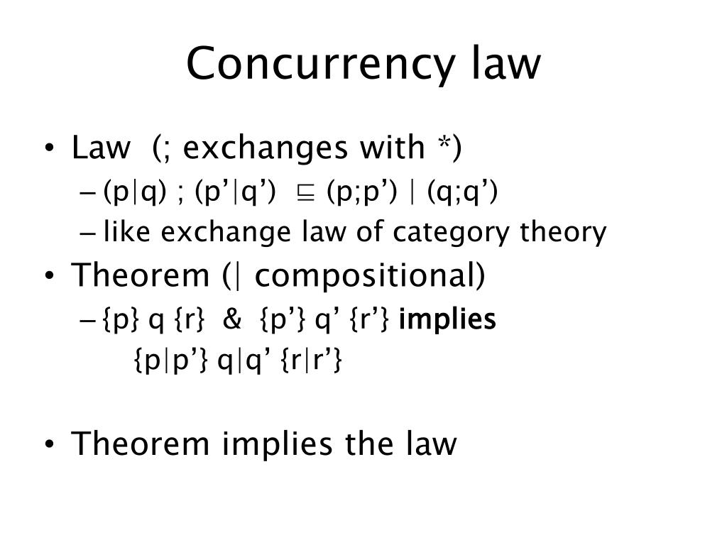 Concurrency law