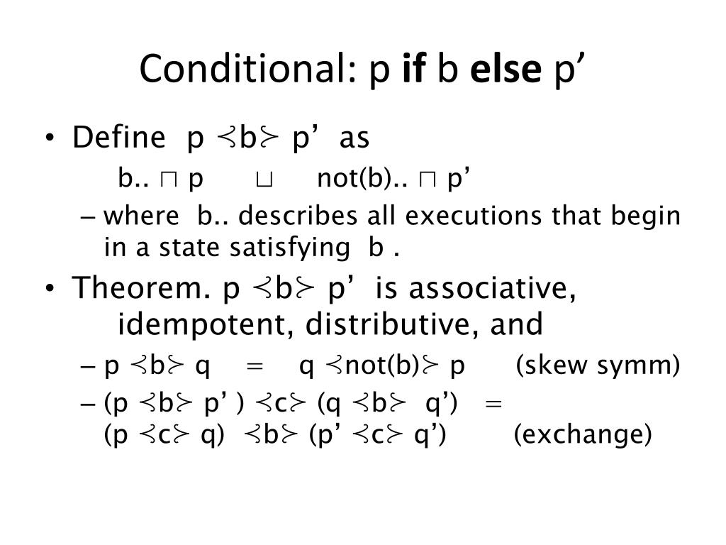 Conditional: p