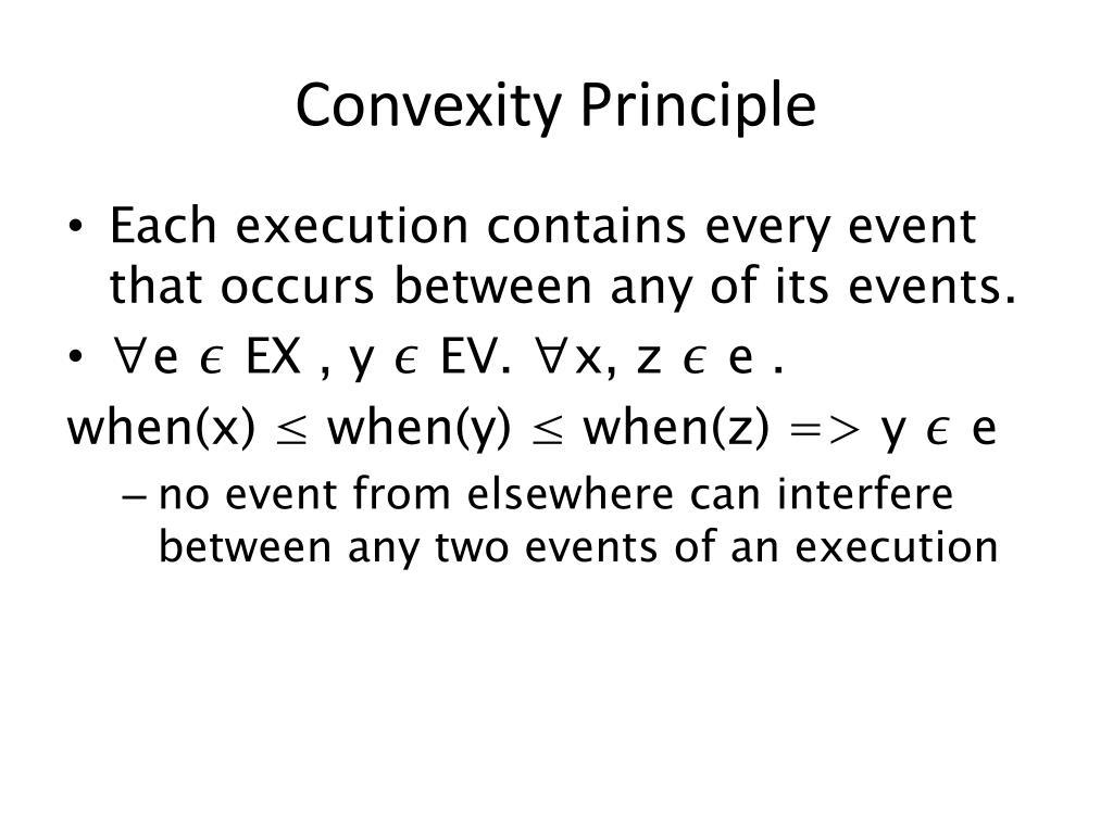 Convexity Principle