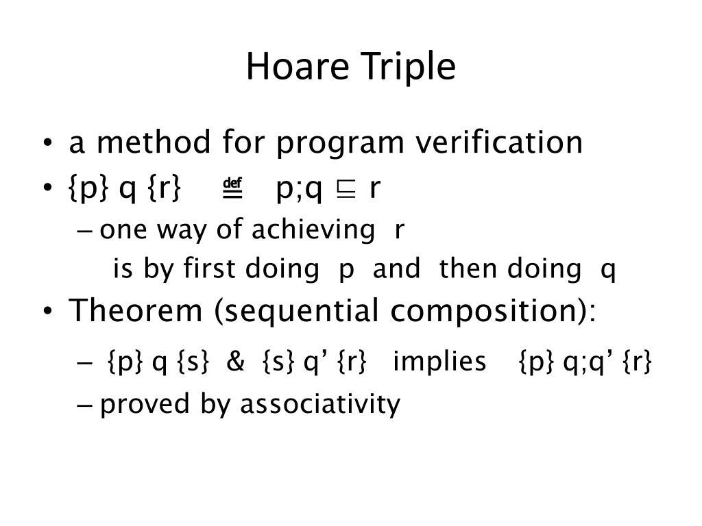Hoare Triple
