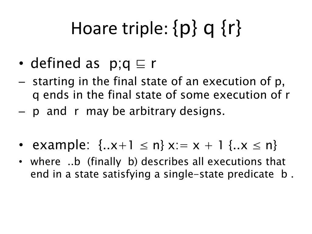 Hoare triple: