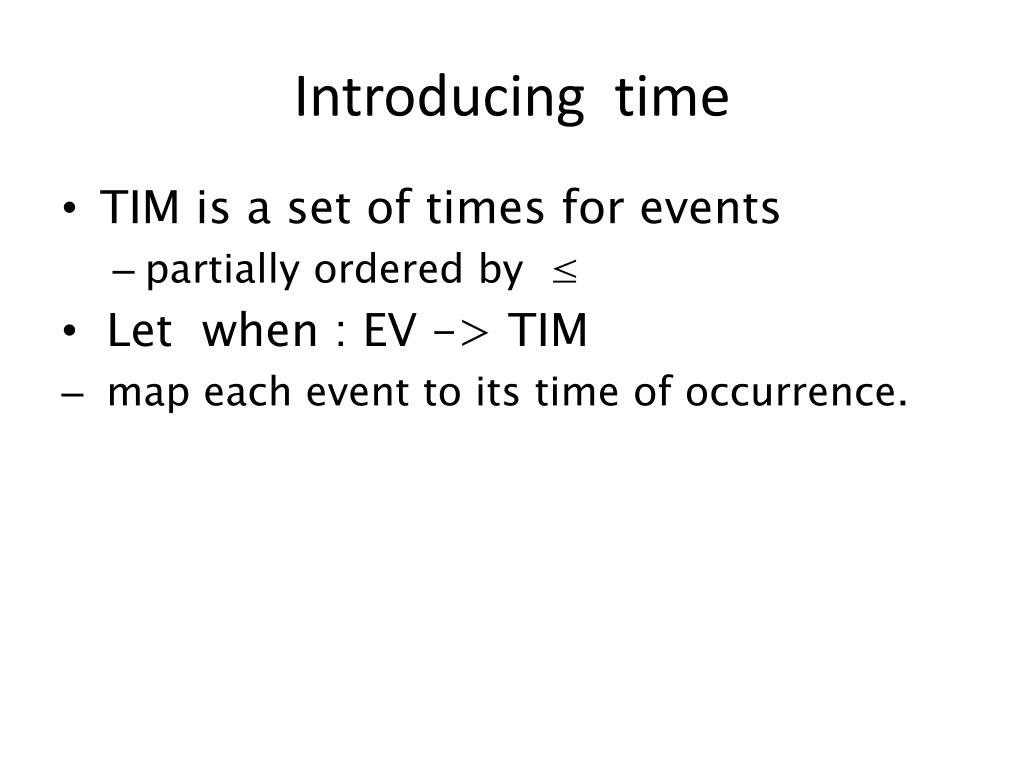 Introducing  time