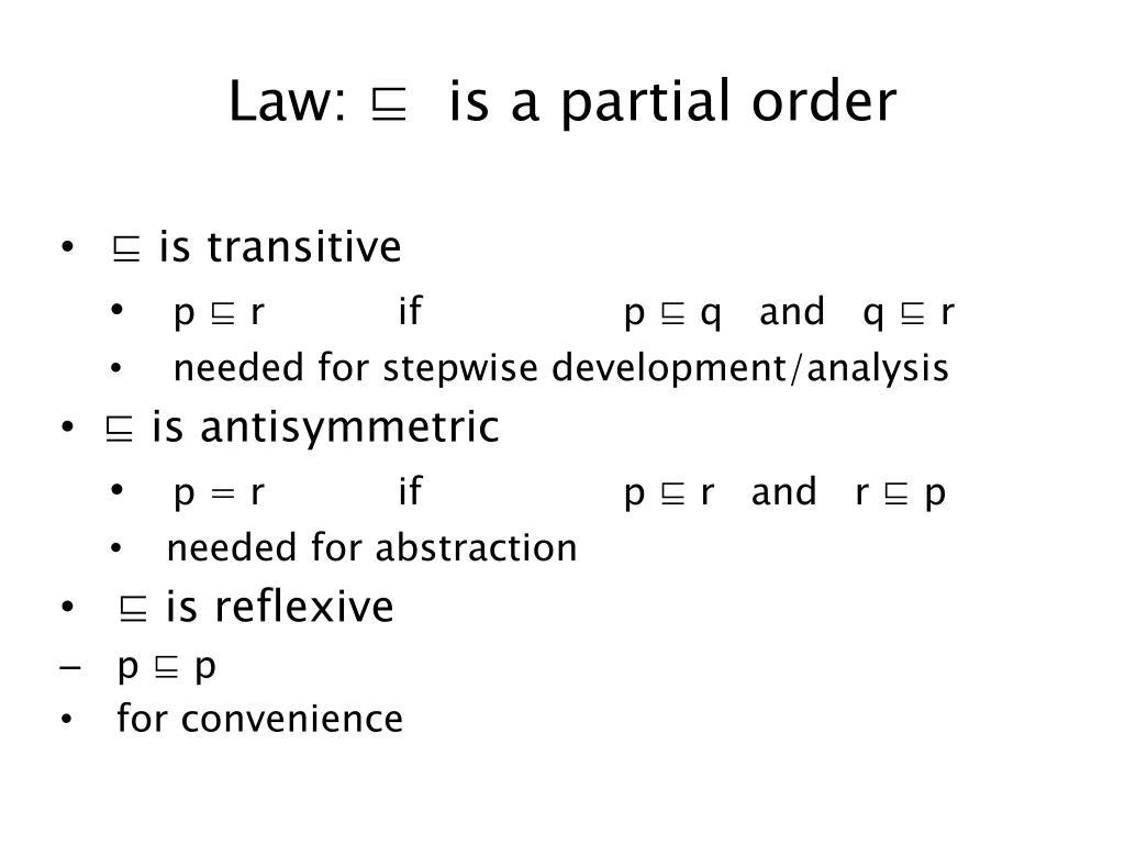 Law: ⊑