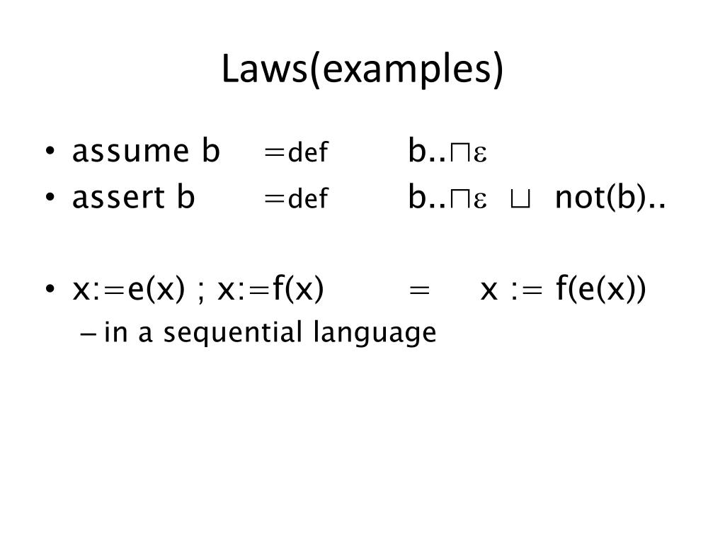 Laws(examples)