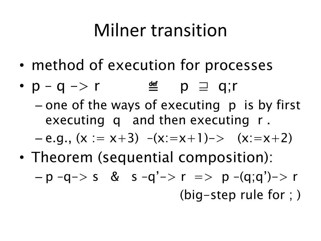 Milner transition
