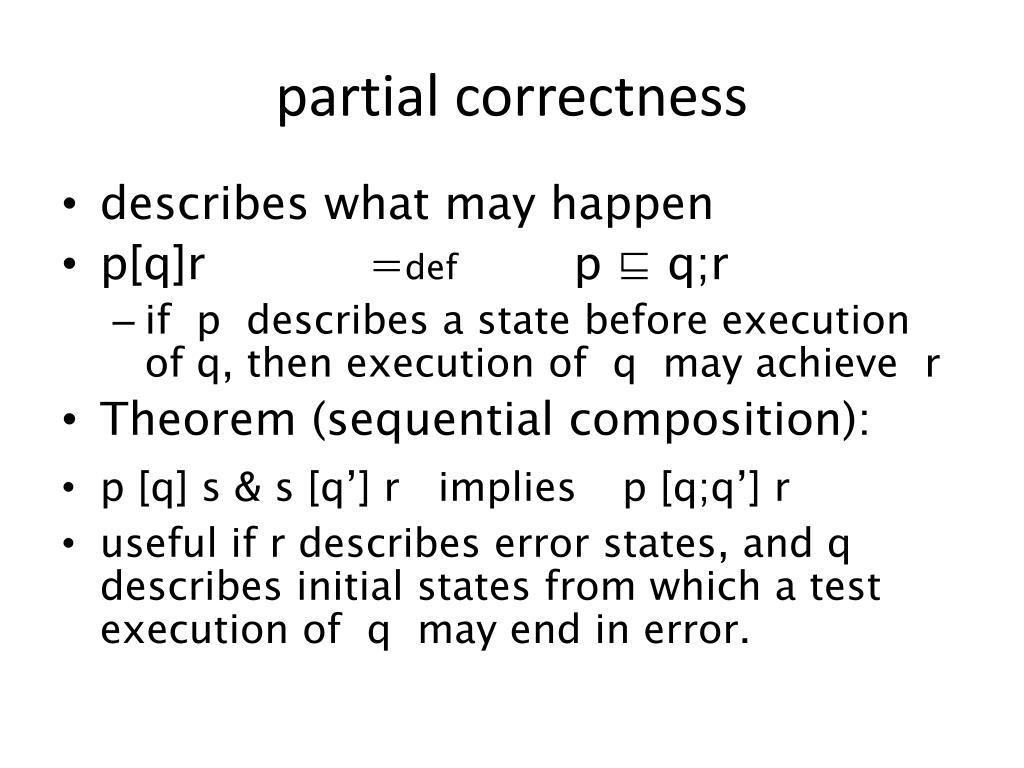 partial correctness