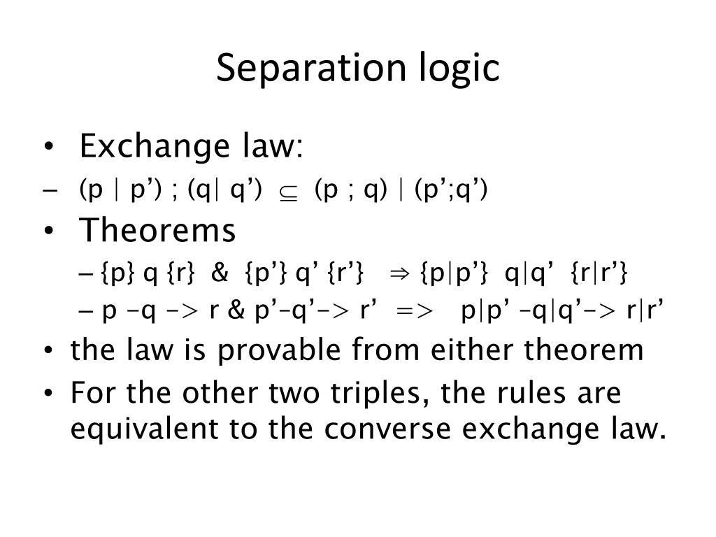 Separation logic