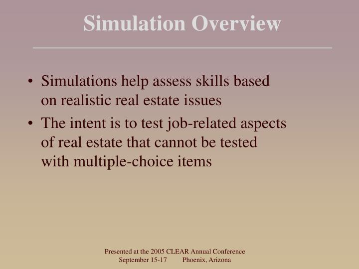 Simulation overview