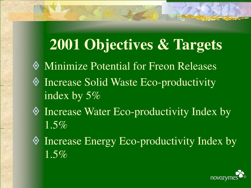 2001 Objectives & Targets