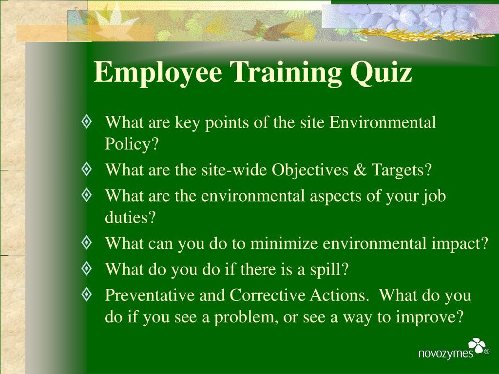 Employee Training Quiz