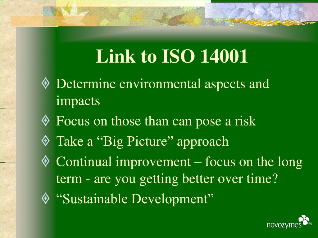 Link to ISO 14001
