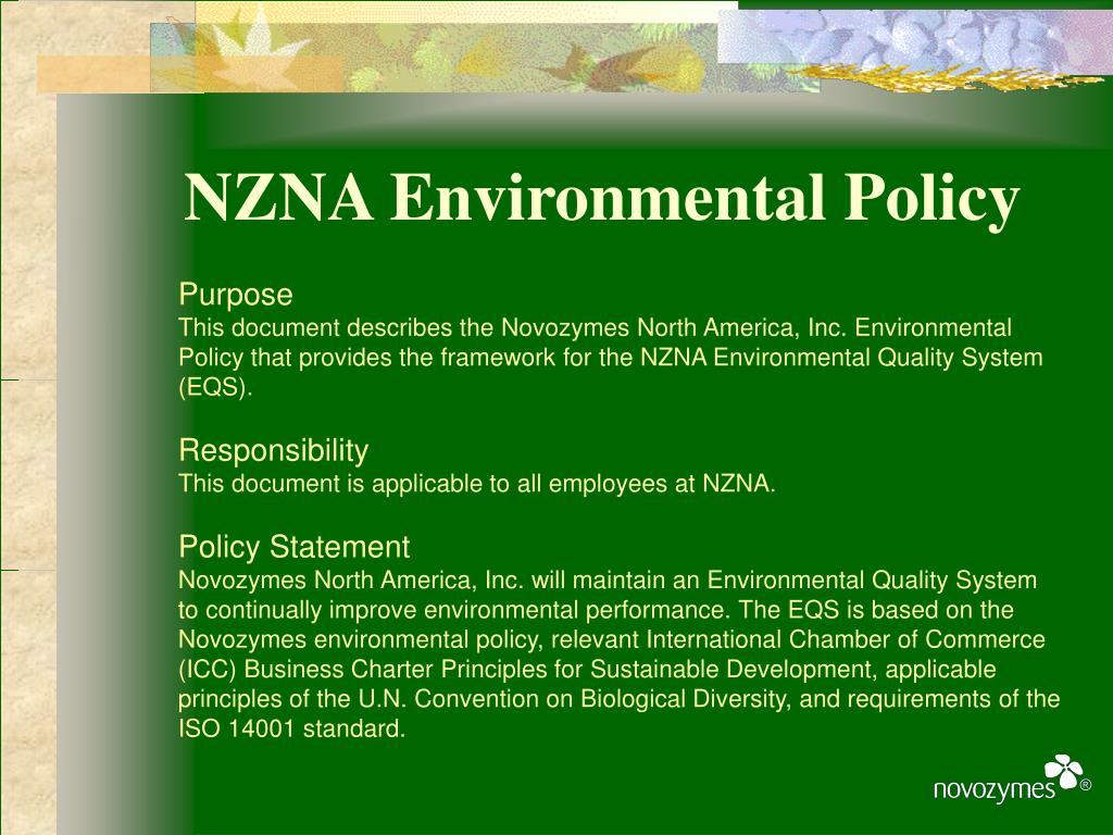 NZNA Environmental Policy