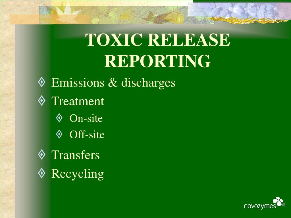 TOXIC RELEASE REPORTING