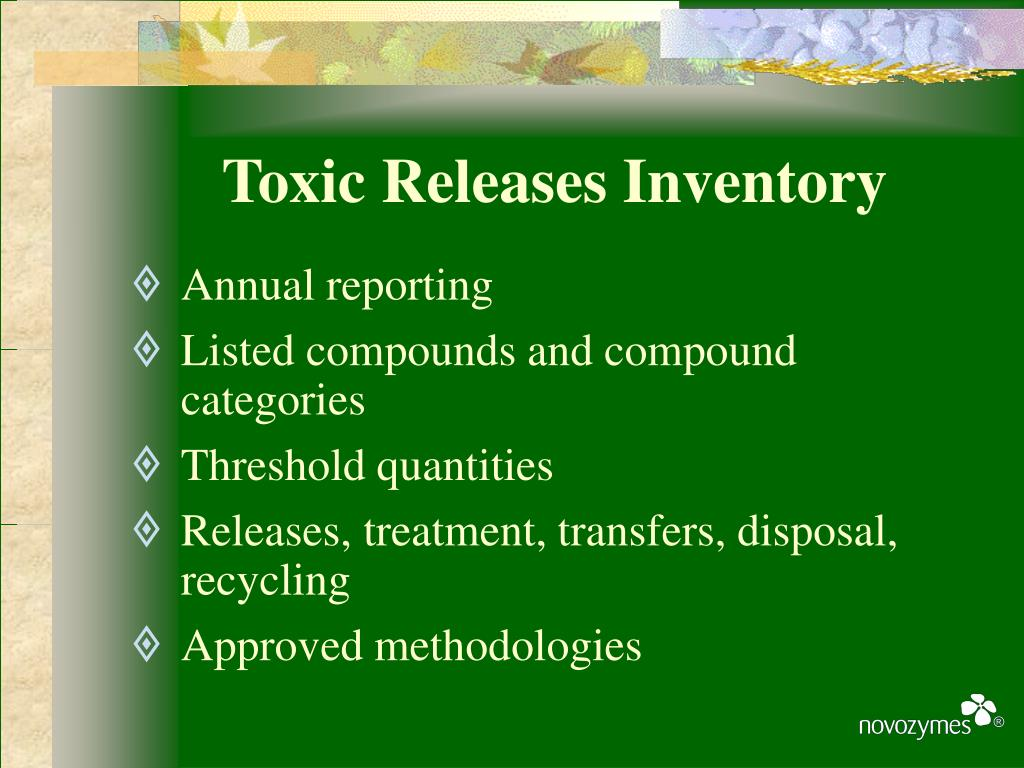 Toxic Releases Inventory