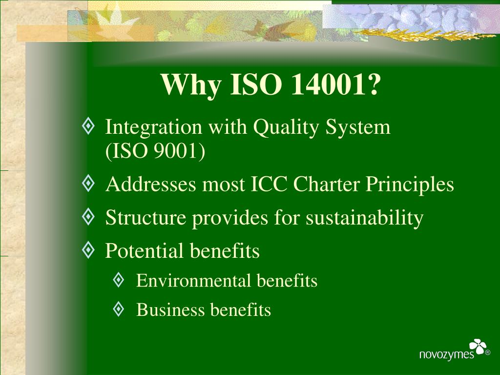 Why ISO 14001?