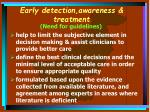 early detection awareness treatment