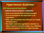 hypertension guidelines23