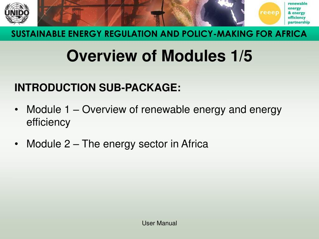 Overview of Modules 1/5