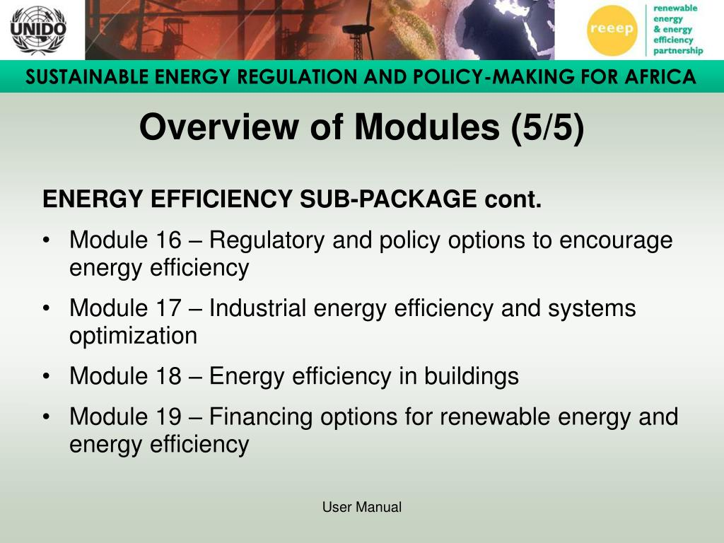 Overview of Modules (5/5)