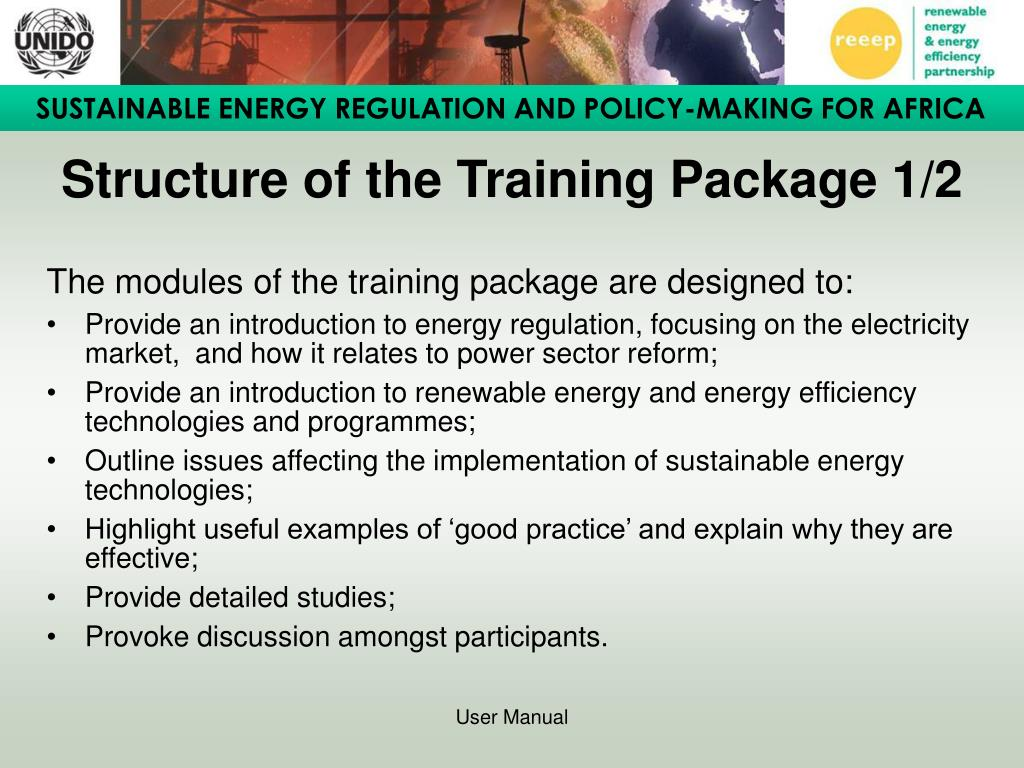 Structure of the Training Package 1/2