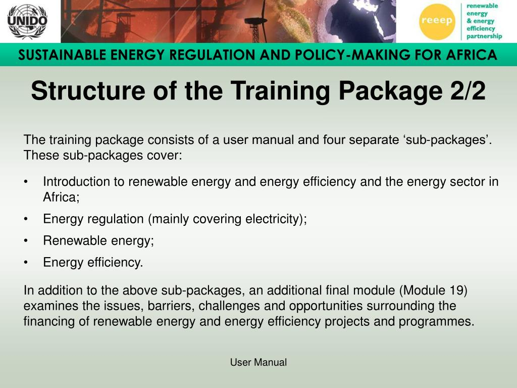 Structure of the Training Package 2/2