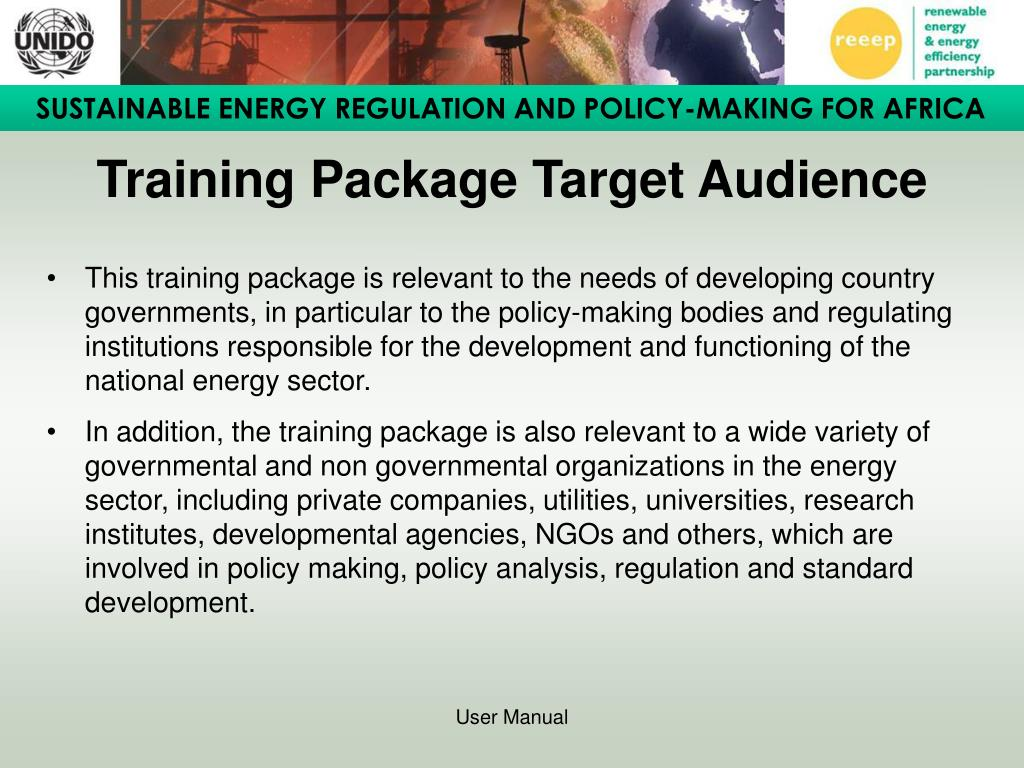Training Package Target Audience